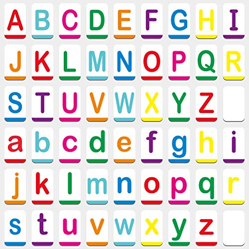 """Hebayy Magnetic Alphabet ABC Flash Cards with Large Uppercase and Lowercase Letters 5.5"""" x 3.5"""" (54 PCs)"""