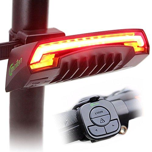 Meilan X5 – Luz trasera inteligente, USB recargable, control remoto inalámbrico, luces láser, para…