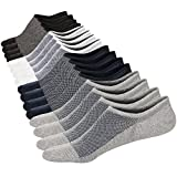 Womens No Show Ankle Low Cut Invisible Socks Comfy Cotton Casual Non-Slip Socks 8 Pairs Size S