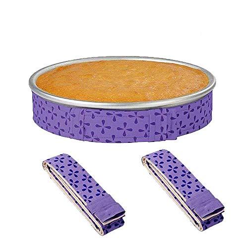 BrightBlue Cueza la Cinta Uniforme, Las Bandas de la Bandeja de la Torta, Las Bandas de la Torta para cocinar, Cake Pan Strips-2Pcs
