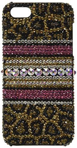 iPhone SE, iPhone 5 / 5s Case, LUXADDICTION [Premium Handmade Quality] Bling Crystals Rhinestone [Leopard Design] Diamond Sparkle Cover