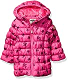 Osh Kosh Girls' Toddler Perfect Colorblocked Heavyweight Jacket Coat, Wild Mulberry Magenta, 4T