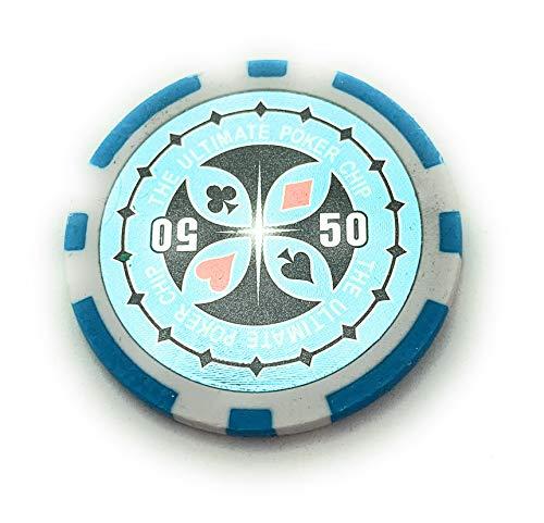Ultimate Poker Pokerchips Laser Chips - 50 Stück (50 Wert)
