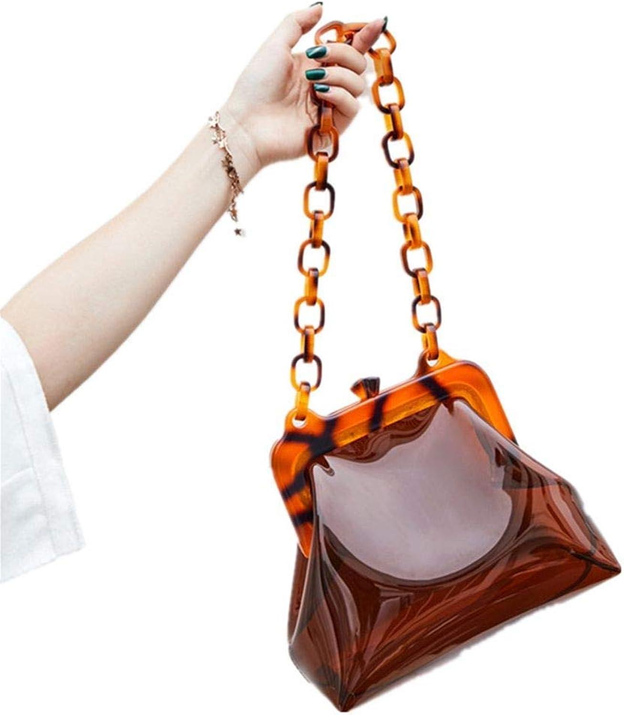 FUFUFUCHEN Transparente Tasche Klar PVC PVC PVC Kunststoff Eimer Tasche Acryl Ketten Vintage Party Clutch Frauen Schulter Handtasche, A B07M5XDGWV  Fett und dünn 4bbf36