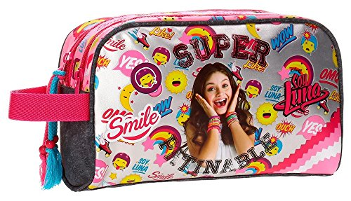 Neceser doble compartimento adaptable a trolley Soy Luna Smile