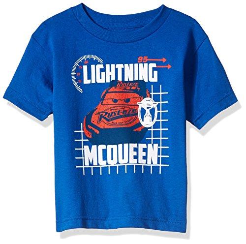 Disney Boys' Little Lightning McQueen Cars 3 Graphic T-Shirt, Blue, (5/6)