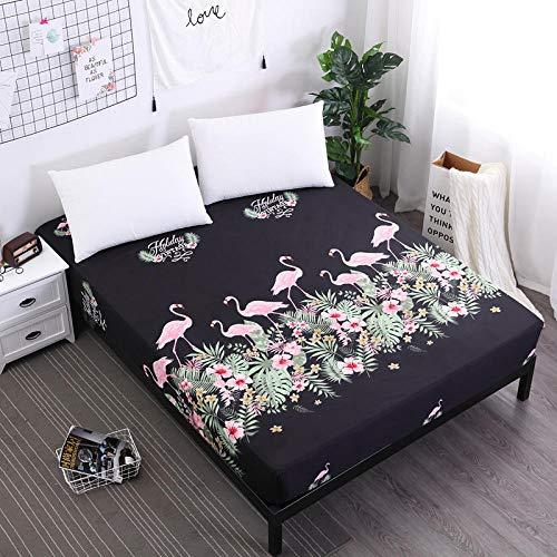 DSman Protector de colchón de Rizo algodón y Transpirable Impresión de sábanas a Prueba de Agua y a Prueba de polvo-28_180cmX200cmX30cm