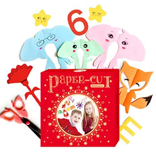 lijun Kinder handgeschöpftes Papier Falten Schneiden Spielzeug Kinder DIY Scrapbooking Kingergarden