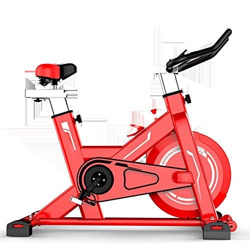 KPOON Bicicleta de Spinning Ejercer Ultra silencioso Interior casero Pedal pérdida de la Aptitud Peso del Equipo de Bicicleta de Ejercicios Ciclismo Indoor (Color : Red, Size : One Size)