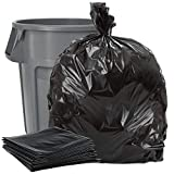 Plasticplace 40-45 Gallon Trash Bags │ 1.5 Mil │ Black Heavy Duty Garbage Can Liners │ 40