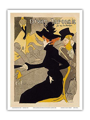 Arte da Ilha Pacifica - Divan Japonais Paris Cabaret Music Dance Hall - Pôster Vintage Publicidade Henri de Toulouse-Lautrec c.1892 - Impressão de arte mestre, Antiguidade, 9 x 12 in