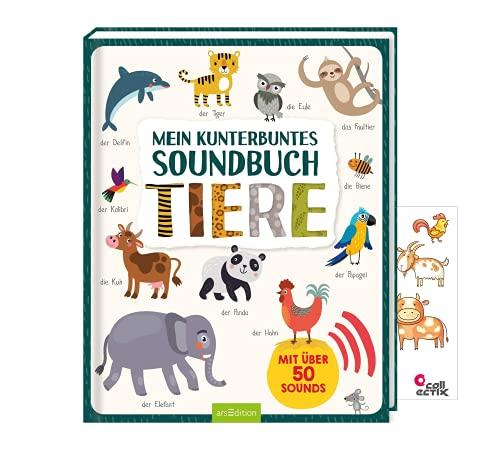Ars Edition Mein kunterbuntes Soundbuch - Tiere: Mit über 50 Sounds + 1 Tiersticker
