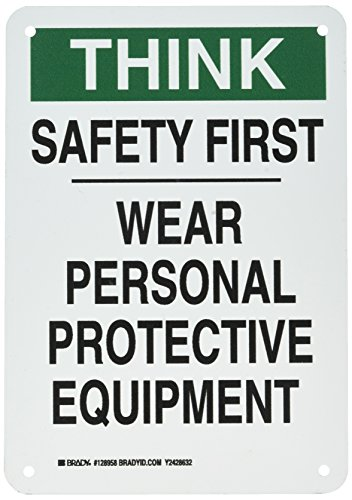 Brady 128958 Personal Protection Sign, Legend