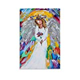TOUKUI Póster de ángel, cuadro decorativo, lienzo para pared, sala de estar, póster, dormitorio, pintura, 40 x 60 cm