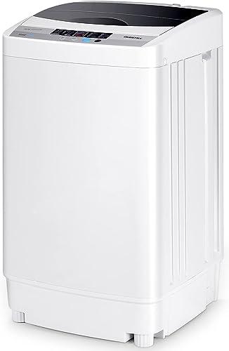 COSTWAY Lave-Linges Machine à Laver Automatique 10 Programmes Affichage LED Capacité de Lavage 4, 5 kg Economie d'eau...