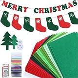 RMENOOR 34 Pcs Filz Weihnachten Filzplatten 30x20cm