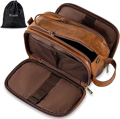 Elviros Toiletry Bag for Men, Large...