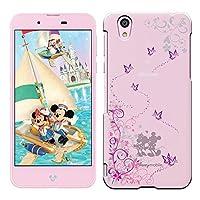[Breeze-正規品] iPhone ・ スマホケース ポリカーボネイト [透明-Purple] ィズニーモバイル DM-01Jケース Disney Mobile on docomo DM-01J カバー ハードケース[DM-01J]