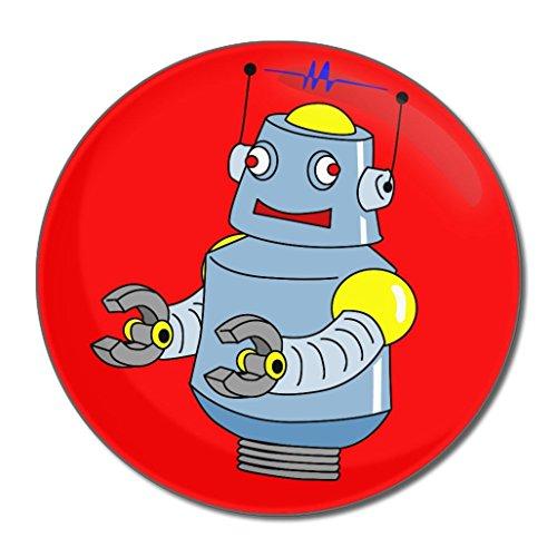 Red Boy Robot - Miroir compact rond de 55 mm