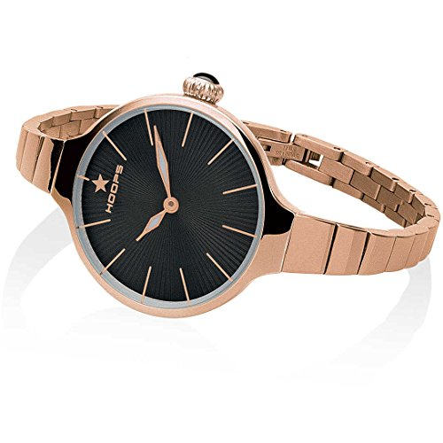 Orologio Donna Chérie Midi Rose Gold Nero 2584LC-RG01 - Hoops