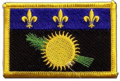 Digni Écusson brodé Flag Patch France Guadeloupe - 8 x 6 cm