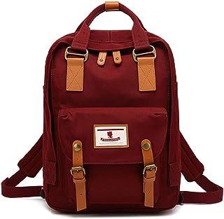 Eastern Corridor Rucksack aus Segeltuch für Mütter, Rucksack für Schule, wasserdicht, für Damen, 35,6 cm 14 Zoll Laptop für Studenten Rot weinrot 15  11  6 inch