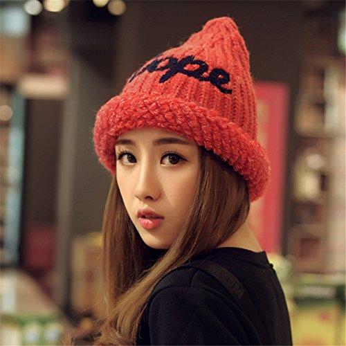 MONEYY Automne coréen et Hiver Chapeau Chaud Loisirs Cent Ensembles de Chapeau Bonnet de marée d'hiver Bonnet, G