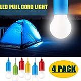 STARPIA 4 STÜCKE Pull Light Lampe Tragbare LED Campinglampe, Mobile Leuchte Pull-Cord Hängende Licht Ideal für Party Garten Camping Wandern BBQ Zelt Dachboden Kleiderschrank Dekoration