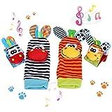 Juguetes para bebés, 4 pzs. Animal lindo calcetines para bebés recién nacidos...