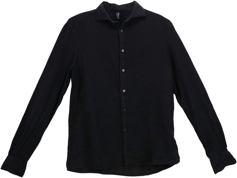 04651 Men's Relaxed Linen Shirt Casual Button-Down
