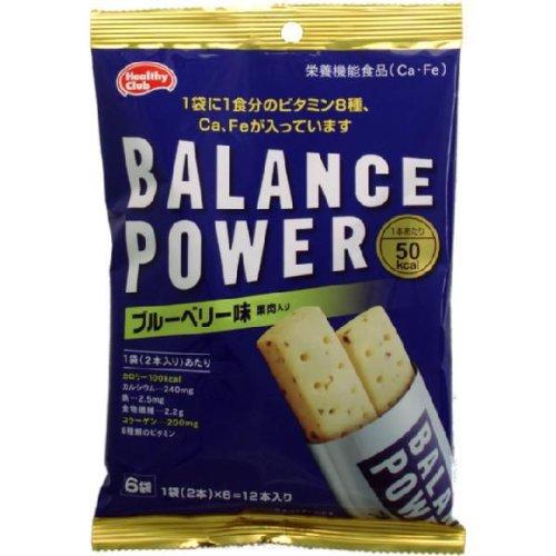 【ハマダコンフェクト】バランスパワー ブルーベリー味 袋タイプ 2本入り×6袋