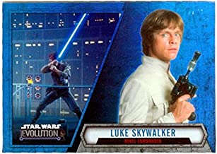 Luke Skywalker trading card Star Wars Evolution Refractor 2016 Topps #30 Mark Hamill Empire Strikes Back Blaster Lightsaber