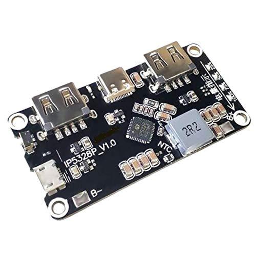 SDENSHI IP5328P - Módulo PCB para Cargador de batería (3,7 V hasta 5 V, 9 V, 12 V)