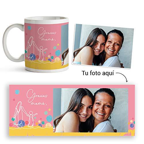 Fotoprix Taza Personalizada con Foto para Mamá | Regalo Original día de la Madre | Varios diseños Disponibles. (Diseño: Madre 4)
