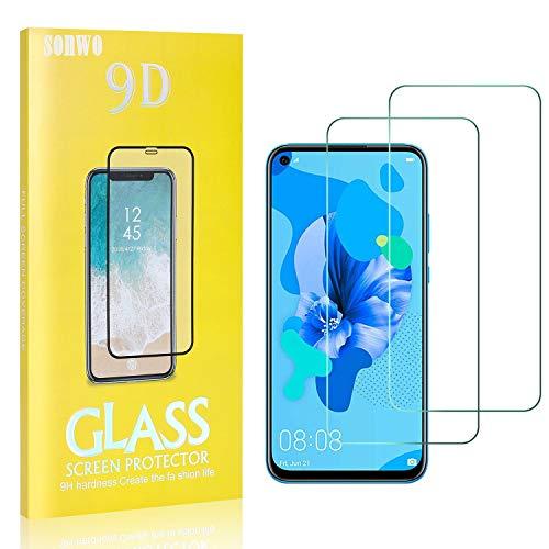 2 Stück Displayschutzfolie Kompatibel mit P20 Lite 2019, SONWO 9H Härte und Bubble Free HD Klar Glas Displayschutz für Huawei P20 Lite 2019
