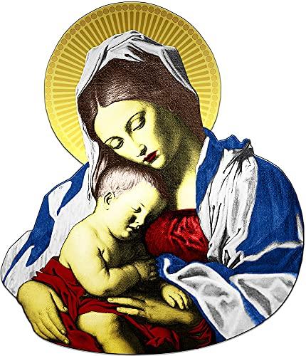 Power Coin Madonna and Child Giovanni Battista Salvi Moneda Plata 2 Cedis Ghana 2021
