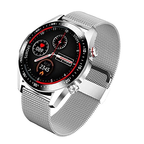 nJiaMe Inteligente del Reloj de la Pantalla táctil de Bluetooth rastreador de Ejercicios IP67 a Prueba de Agua con Multideporte Modo de sueño del Ritmo cardíaco Detección de Metal de la Astilla