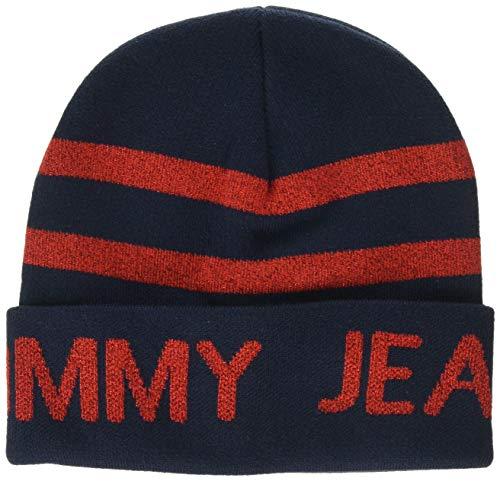 Tommy Hilfiger Tjw Seasonal Beanie Gorro de punto , Azul (Blue 0ia) , Talla única (Talla del fabricante: OS) para Mujer