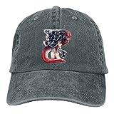 Hoswee Unisex Kappe/Baseballkappe, Sexy Octopus Girl Denim Hat Adjustable Mens Baseball Hats