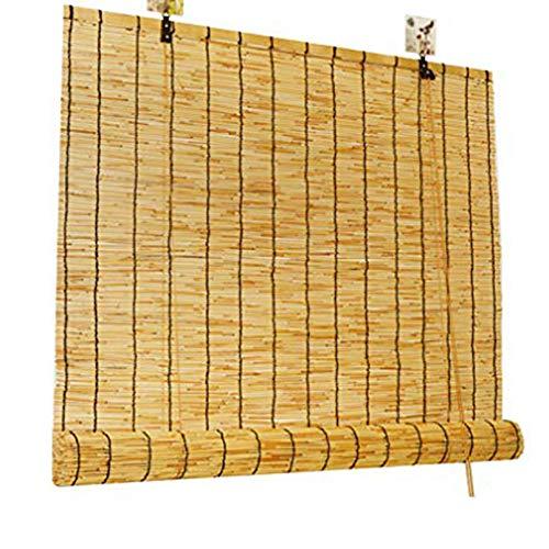 NIANXINN Persianas de Caña Natural,Persiana Enrollable de Bambú de Decoración Vintage - Cortinas,Persianas de Elevación,para Exterior/Patio/Puerta, Personalizadas (100x270cm/39x107)