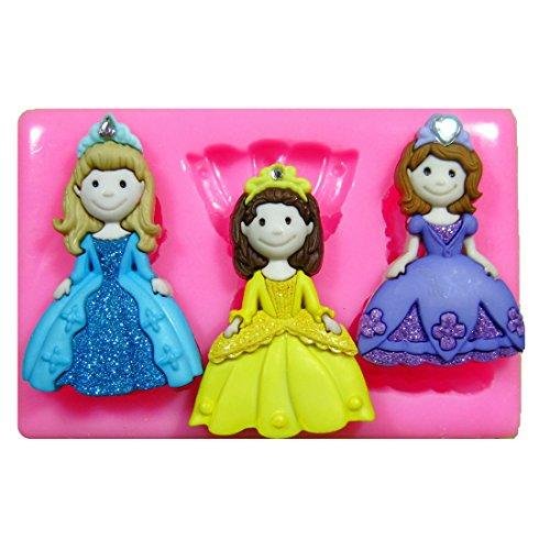 Princesa Cenicienta Molde de silicona para la torta de Decoración Pastel de Cupcake Toppers Glaseado Sugarcraft Tool por Fairie Blessings