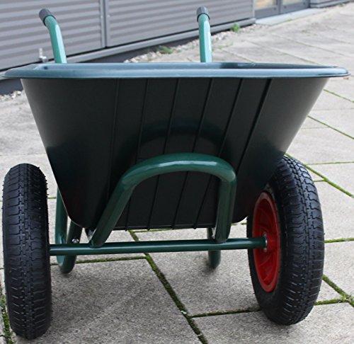 TrutzHolm® 2-Rad Schubkarre Basic PP Gartenschubkarre Schiebkarre Gartenkarre 100l 160kg - 5