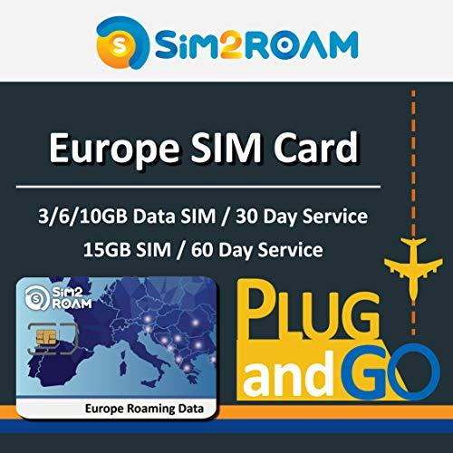 Prepaid Europe Data SIM Card 3GB LTE High Speed Internet for 30 Days - UK, Germany, France, Italy, Spain, Ireland, Sweden
