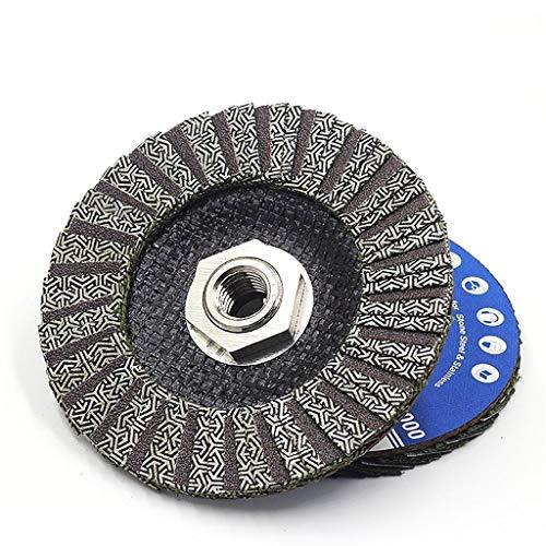 YYOBK JP Diamante De 4,5 Pulgadas De 115 Mm Discos De Solapa Electropotelados, Ruedas De Pulido para Molinillo Seco Seco Disco Disco 1pcs (Color : Grit 400, Size : 115mm 5 8 11)