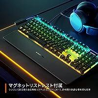 SteelSeries ゲーミングキーボード 有線 ハイブリッドメカニカルスイッチ 日本語配列 有機ELディスプレイ搭載 Apex 5 64537