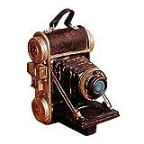 fikujap Adornos de Cámara de Resina Vintage - Ornament de Artesanía de Arte para la Decoración del Hogar Colección Figurilla Decoración de Escritorio de Regalo Accesorios de Fotografía
