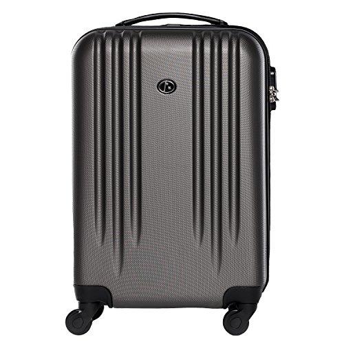 FERGÉ Set di tre valigie Marseille - bagaglio rigide duro da 3 - tre pz. valigie con 4 ruote (360) ABS viola