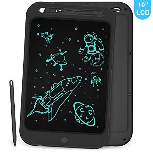 Richgv LCD Schreibtablett, 10 Zoll Board Lernspielzeug Elektronisches Zeichenbrett Handschrift und Doodle-Pad für Kinder und Erwachsene(Rosa-A,10 Zoll)