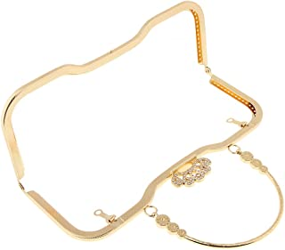 D DOLITY Alloy Coin Purse Handle Bag Clutch Handbag Frame Kiss Clasp Lock 27 x 11cm for Handmade DIY Purse Bag Evening Clutch Making Supplies