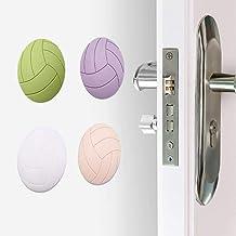 Zachte rubberen pads om de muur of vloer zelfklevende deurstop volleybal modellering deur spatbord antislip stickers